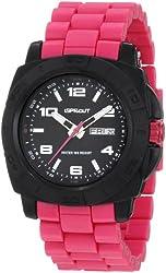 Sprout Men's ST/3801BKMA Water Resistant Pink Corn Resin Bracelet Water-Resistant Bio-Degradable Watch