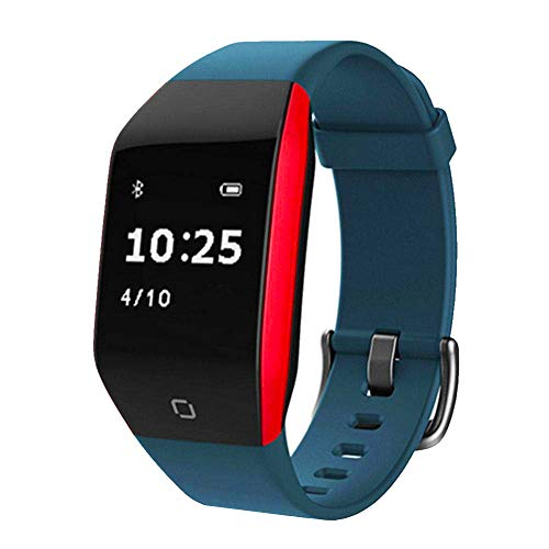 TEEPAO IP68 Waterproof Fitness Tracker, Blood Pressure Monitor Smart Watch with MP3 Music Player & Heart Rate Monitor Strap, Pedometer Watch, Fit Activity Tracker Watch for Women Men,Blue