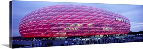 canvas-on-demand-premium-thick-wrap-canvas-wall-art-print-entitled-soccer-stadium-lit-up-at-dusk-all