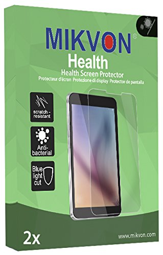 2x Mikvon Health Screen Protector for Sony DCR-HC62E Antibacterial BlueLightCut Foil - Retail Package with accessories
