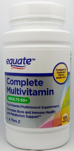 Equate Complete Multivitamin, Adults 50+, A Thru Z, 125ct, Compare to Centrum Silver Adults 50+