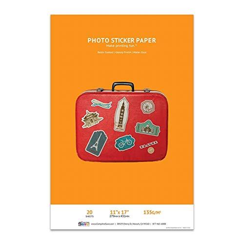 Premium Glossy Inkjet Photo Sticker Paper (11