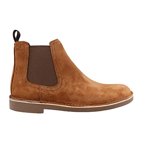 (CLARKS Men's Bushacre Hill Chelsea Boot, tan Suede, 095 M US )