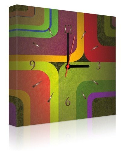 Islamic Canvas Art Wall Clock CL-37 by Null