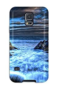 New WPLeErs4237ngfqJ Blue Sea Shore Skin Case Cover Shatterproof Case For Galaxy S5 by supermalls