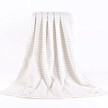 beroyal marca hoja 14070 cm de baño toalla de baño de algodón de cuadros de panal (crema): Amazon.es: Hogar