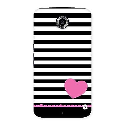 new product 07743 9f2cc Ghantakart.com Stripes Heart Back Case Cover for Motorola Nexus 6 ...
