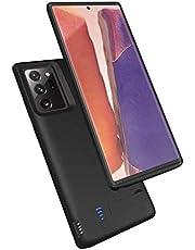 HQXHB batterifack för Samsung Note 20 Ultra, 6000 mAh uppladdningsbart externt batteri för Galaxy Note 20 Ultra Backup-laddare, Note 20 Ultra Portable laddningsfodral med USB Power Bank