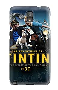 Hot The Adventures Of Tintin 3d First Grade Tpu Phone Case For Galaxy Note 3 Case Cover