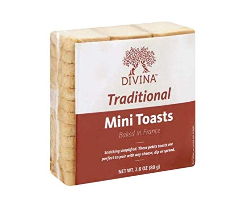 Divina Mini Toasts, 2.75 oz Imported from France (Pack of 4) by Divina