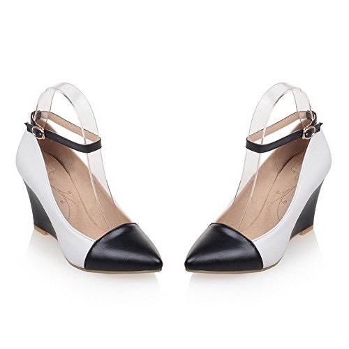 Bombas surtidos mujer Zapatos Hebilla altos Tacones Negro estrecha Color PU Punta para VogueZone009 vqaES1v