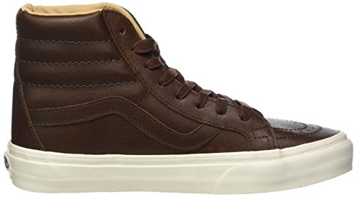 Unisex Marrone Porcini Sk8 Chocolate Adulto 40 Vans Sneaker Leather EU Shaved Reissue Lux Hi FIqqB4Y