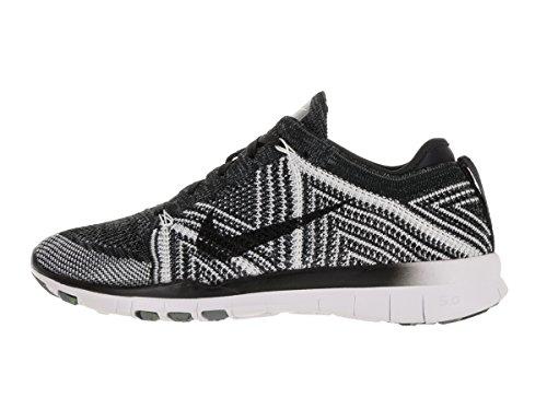 Nike Vrouwen Vrije Tr Flyknit Zwart / Zwart-wit-volt 718785-004 Schoen
