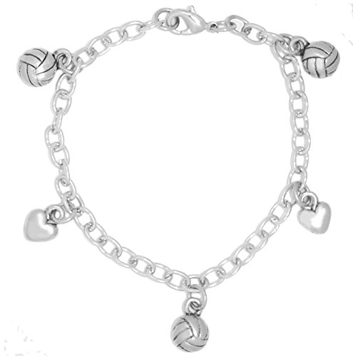 Clayvision I Love Volleyball Water Polo Charm Bracelet (Water Polo Charm Bracelet)
