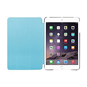 Ipad Case,Ipad Mini 2 Case,Ipad Mini 3 Case,Fold Series Smart Cover+Transparent Back Cover [Ultra Slim] [Light Weight] [Scratch-resistant]Ipad Mini Cover for Ipad Mini1&2&3Case(blue) from ACEGUARDER ipad mini,cover ipad mini,ipad mini 2 case,ipad mini 3 c