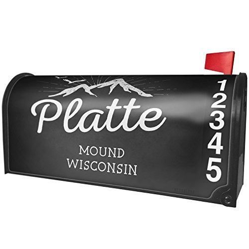 NEONBLOND Mountains chalkboard Platte Mound - Wisconsin Magnetic Mailbox Cover Custom (Adapter Platte)