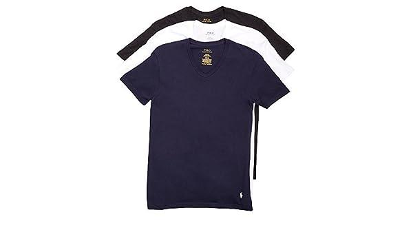 eaff55d7f081 POLO RALPH LAUREN Classic V-Neck T-Shirts 3-Pack, L, Navy/White/Black:  Amazon.com.au: Fashion