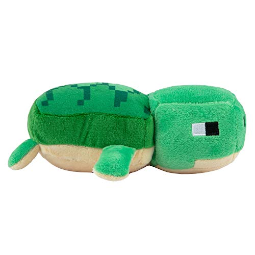 JINX Minecraft Happy Explorer Sea Turtle Plush Stuffed Toy, Green, 7