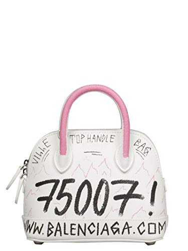 Luxury Fashion | Balenciaga Woman 5506460OTJ39072 White Leather Handbag | Fall Winter 19