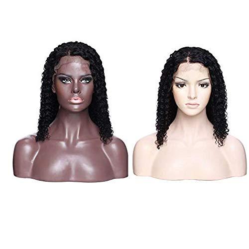 BLISSHAIR cheveux brésiliens wig Perruque mèches Coupe courte bouclée en cheveux naturels Morichy 16 inch Noir