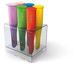 Popze IcePopIt Premium Silicone 6 Dessert Treat Molds, Elegant Stand, Gift Designer Box...