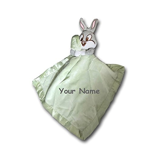 Personalized Baby Looney Tunes Bugs Bunny Baby Blanket Blanky - 13 Inches (Tunes Looney Baby Bugs)