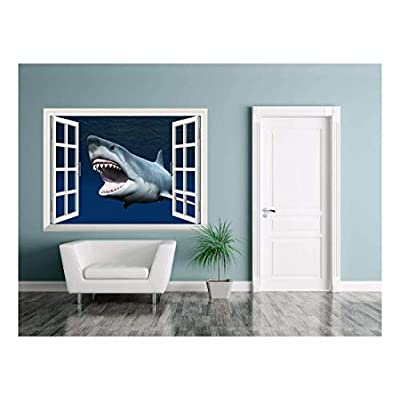Removable Wall Sticker Wall Mural Great Shark Under...