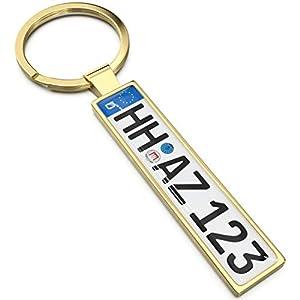 Kennzeichen Schlüsselanhänger - Personalisiertes Mini Kfz-Kennzeichen als Schlüssel-Anhänger, Ideales Geschenk für…