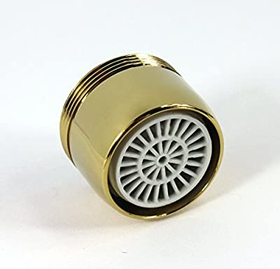 Water Saving Faucet Aerator with Adjustable Water Flow - Gold Design