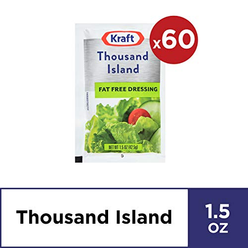 Kraft Thousand Island Salad Dressing (1.5 oz Packets, Pack of 60)