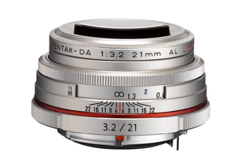 PENTAX Limited Lens-Thin Wide-Angle Single Focus Lens HD PENTAX-DA21mmF3.2AL Limited Silver K Mount...