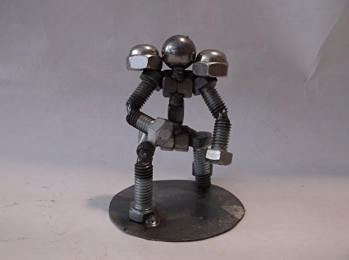 Football Player Metal Bolt Figurine