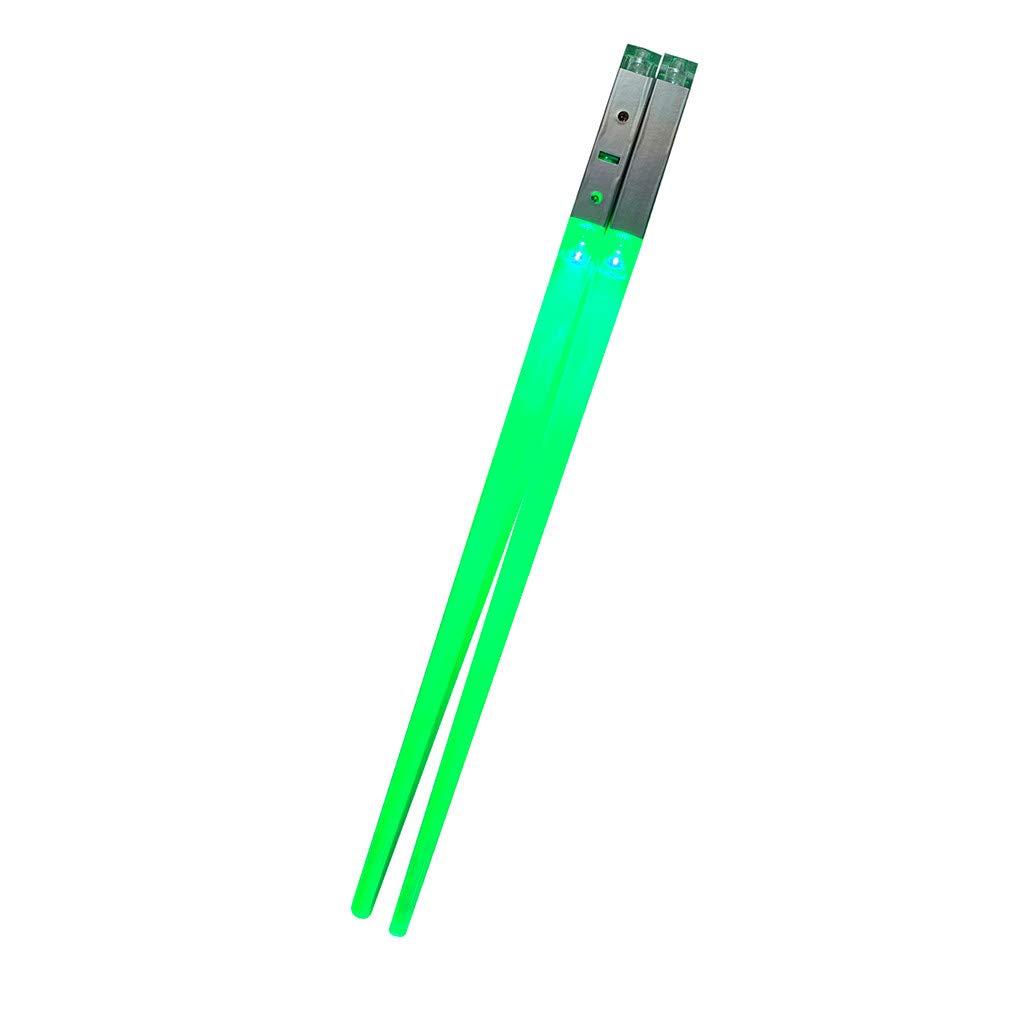 Denzar Lightsaber Led Light Up Chopsticks Durable Lightweight Portable (Green)