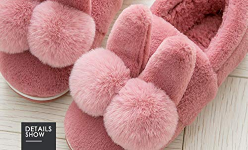 Outdoor Winter Womens Slipper Cute Bunny Warm Indoor Shoes Red Slippers wtgOg
