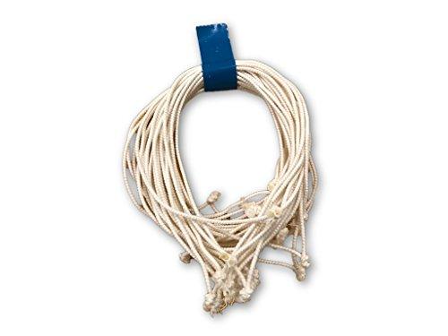 Clucker-Truss Elastic Gourmet Trussing Strings; 6 inch Heavy Duty White; Pkg of 60