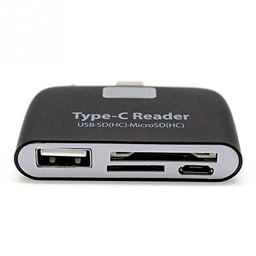 RONSHIN Multifunction Memory Card Adapter USB 3.1 Type C USB-C TF SD OTG Card Reader for Mac Book Phone Tablet Black
