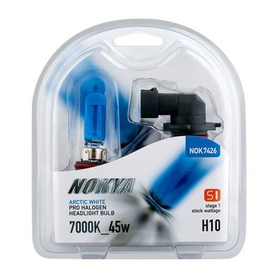 NOKYA Arctic White H10 45w Halogen Headlight Bulbs