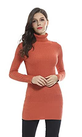 Fashion Cable Knit Turtleneck Long Sweater (Small, Autumn)