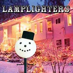 Snowman Head Christmas Outdoor Light lightpost / Lamppost