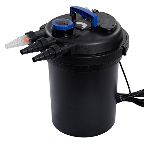 Pond Pressure Bio Filter 4000GAL W/ 13W UV Sterilizer Light 10000L Koi Water ()