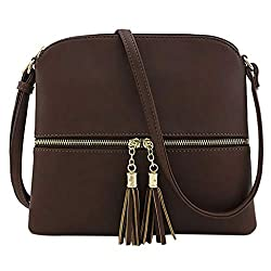 Lmx 3f Fashion Mother S Day Totes Messenger Bag For Women Leather Tassel Crossbody Bag Pure Color Shoulder Bag Handbag