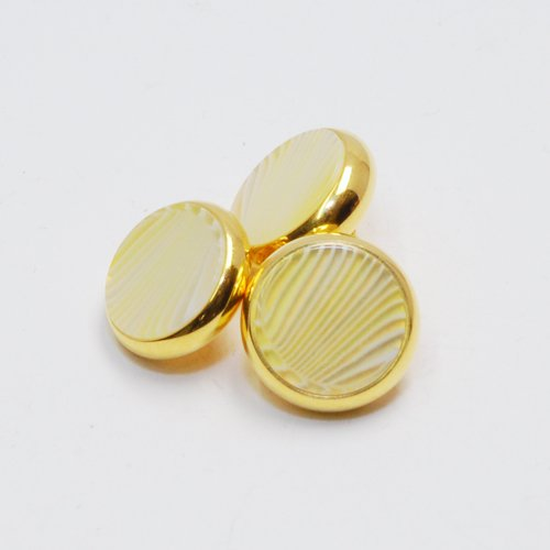 YAMAHA XENO Trumpet Finger Buttons Set of 3 24K Gold Plated with Mojito Custom Inlay