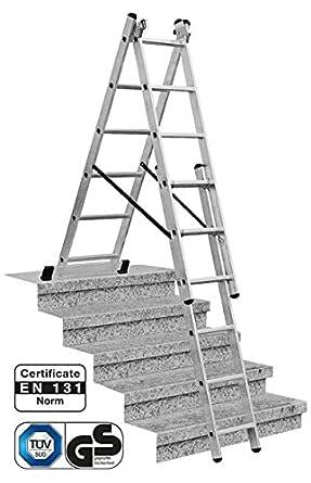 LALG392 Escalera para Desniveles, 3 X 9 Peldaños: Amazon.es: Industria, empresas y ciencia