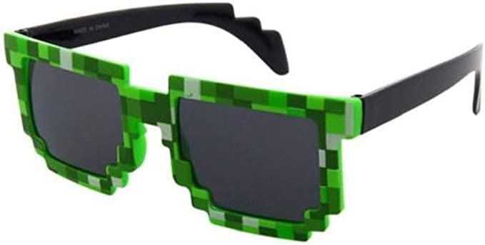 NEW Pixel Sunglasses Adults Boy Girl Kids Childrens Mosaic Glasses Shades GW