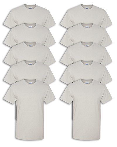 Lilac Ice Apparel - Gildan mens Heavy Cotton 5.3 oz. T-Shirt(G500)-ICE GREY-XL-10PK