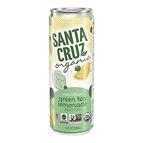 Santa Cruz Organic Mint Infused Green Tea Lemonade Carbonated Beverage, 12fl.oz. (Pack of 9) by Santa Cruz