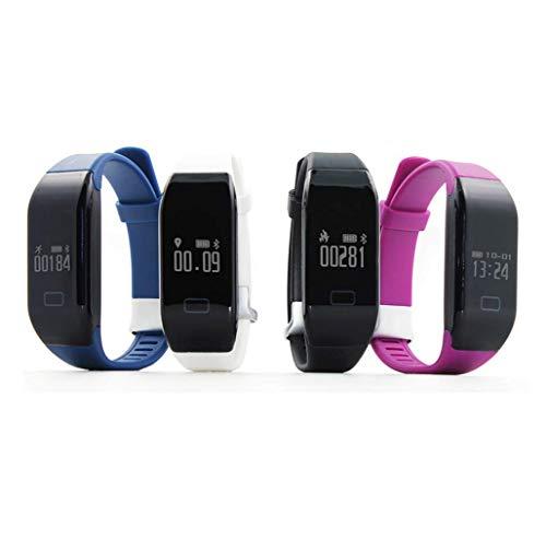 Grams Heart Bracelets - LANMEI Smart Bracelet Heart Rate Waterproof Bluetooth Sports Pedometer Bracelet,White