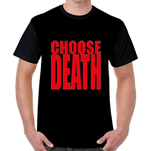 Speciallife Choose Death Men Printing Round Neck t Shirts Top Blouse Shirt Black