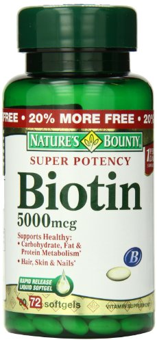 Natures Bounty Biotin 5000 Softgels
