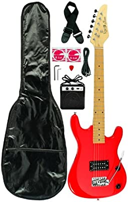 3/4 Viper Junior guitarra eléctrica Combo con accesorios y amplifier-red